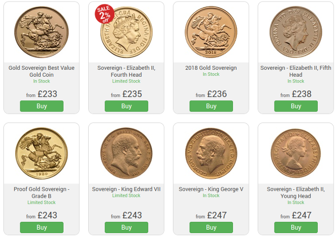 Buy Gold Coins in Leeds UK